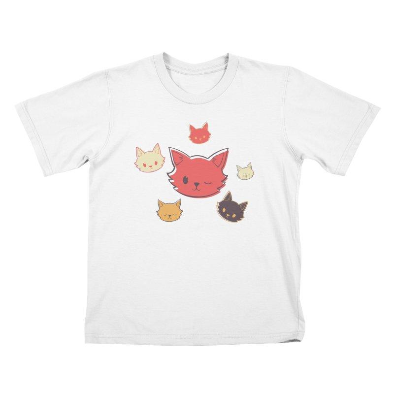 Kitty Wink Kids T-Shirt by Marci Brinker's Artist Shop