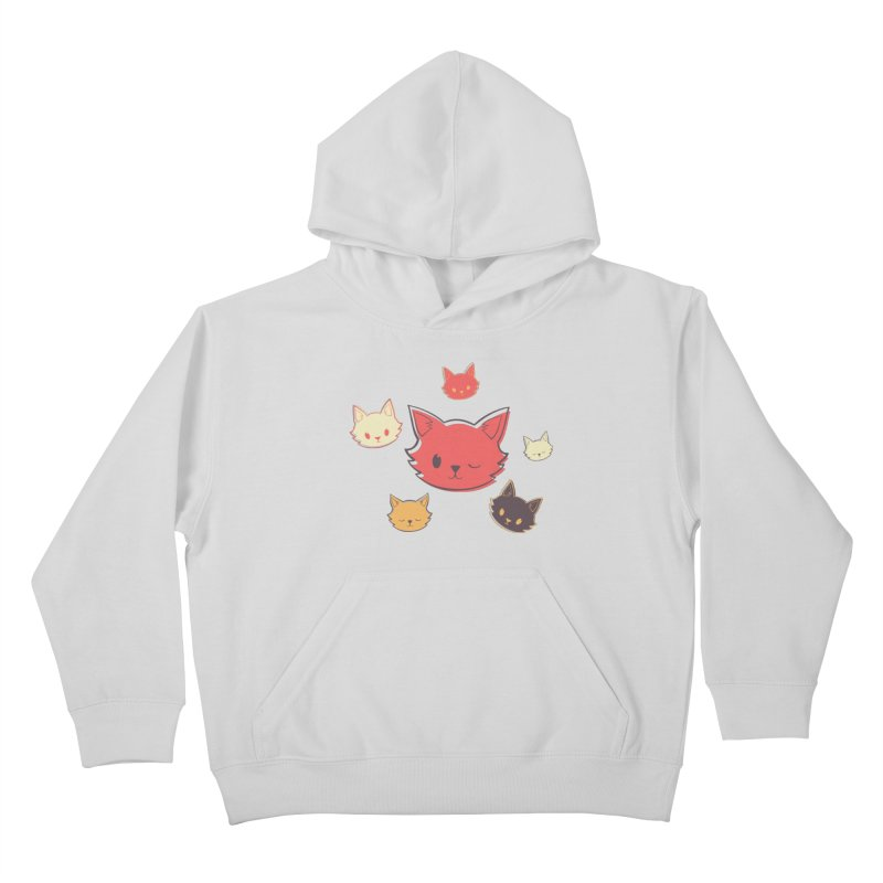 Kitty Wink Kids Pullover Hoody by Marci Brinker's Artist Shop