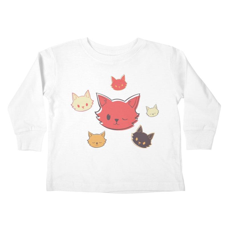 Kitty Wink Kids Toddler Longsleeve T-Shirt by Marci Brinker's Artist Shop