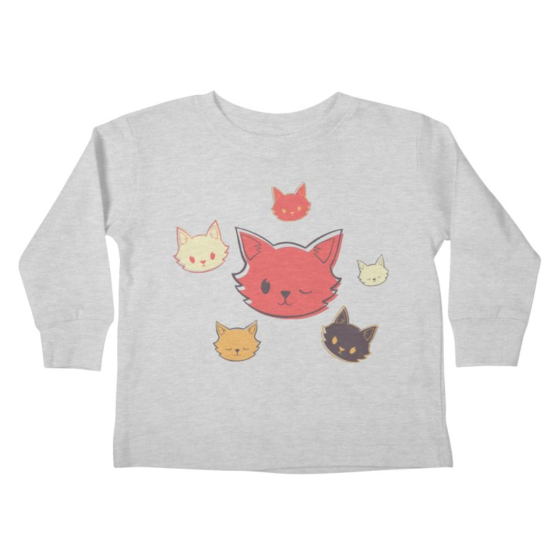 Kitty Wink Kids Toddler Longsleeve T-Shirt by Marci Brinker's Artist Shop
