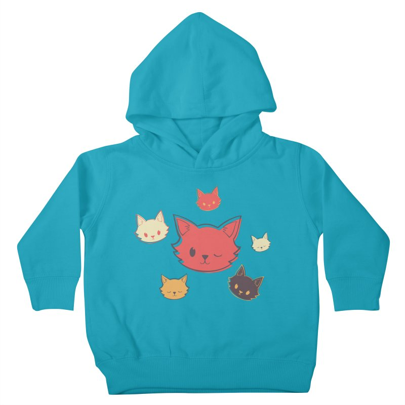Kitty Wink Kids Toddler Pullover Hoody by Marci Brinker's Artist Shop