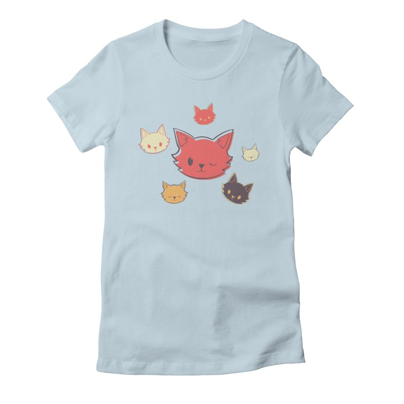 Kitty Wink Women's T-Shirt by Marci Brinker's Artist Shop