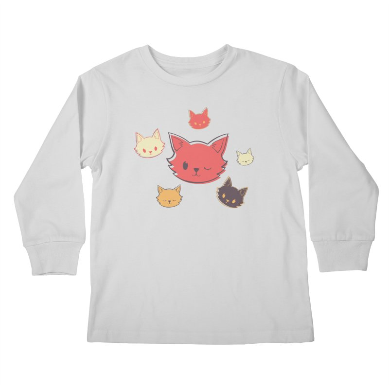 Kitty Wink Kids Longsleeve T-Shirt by Marci Brinker's Artist Shop
