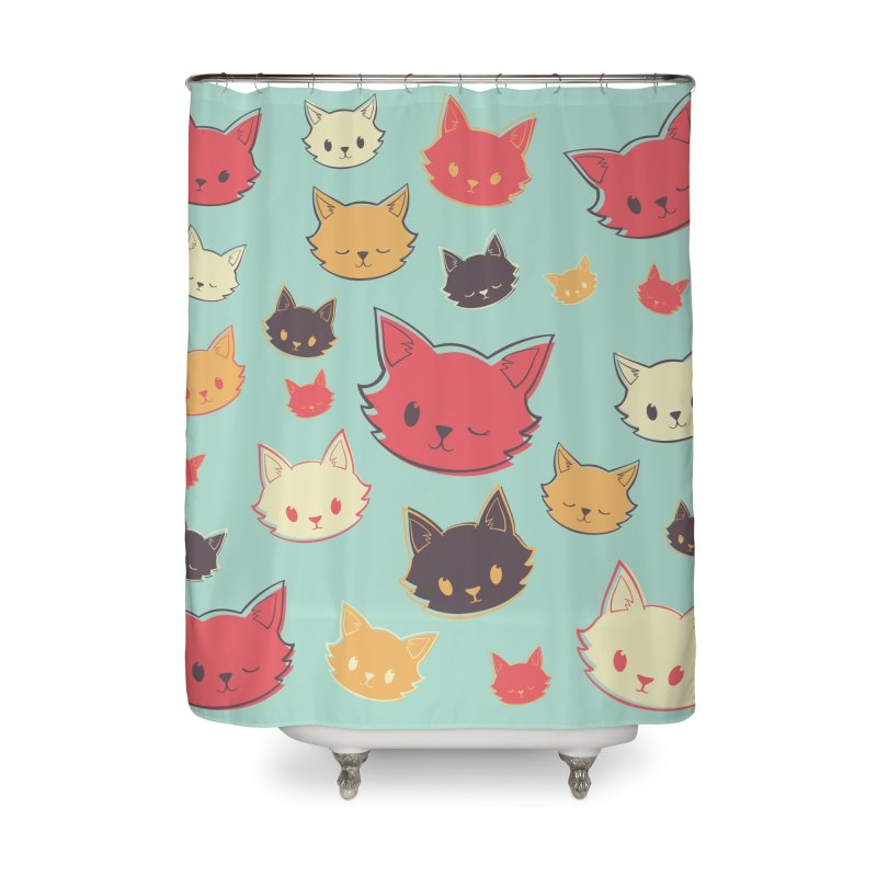 Kitty Wink Home Shower Curtain by Marci Brinker's Artist Shop