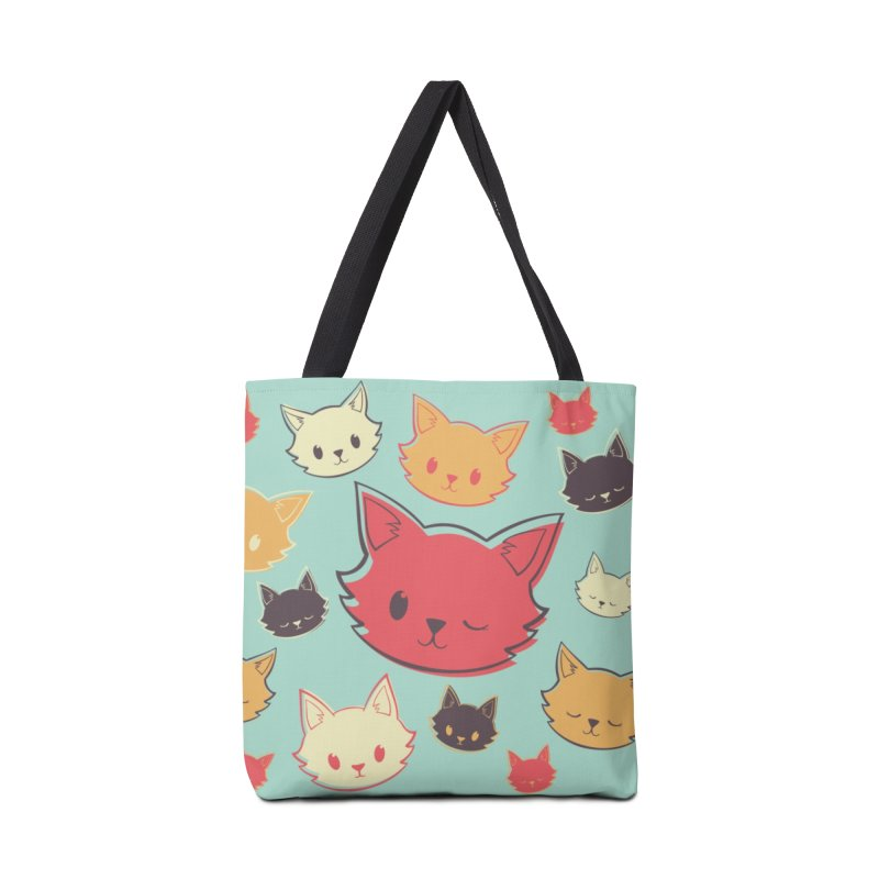 Kitty Wink Accessories Tote Bag Bag by Marci Brinker's Artist Shop