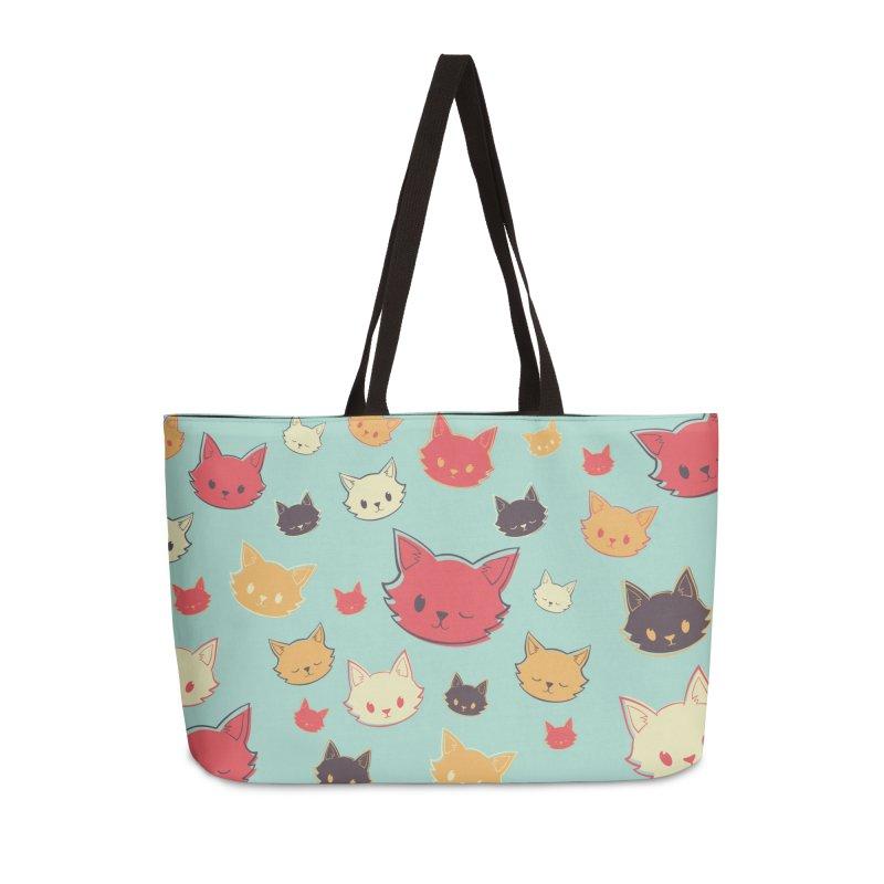 Kitty Wink Accessories Weekender Bag Bag by Marci Brinker's Artist Shop