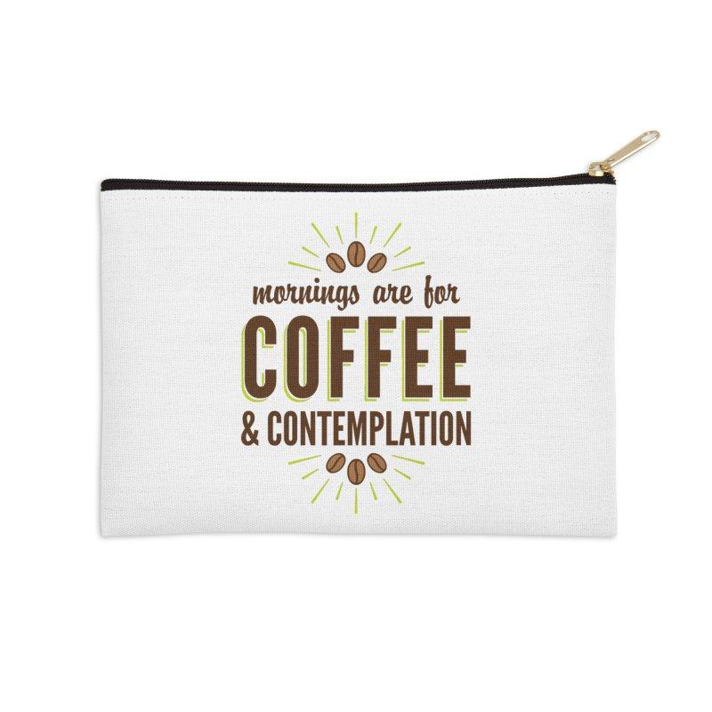 Coffee & Contemplation Accessories Zip Pouch by Marci Brinker's Artist Shop