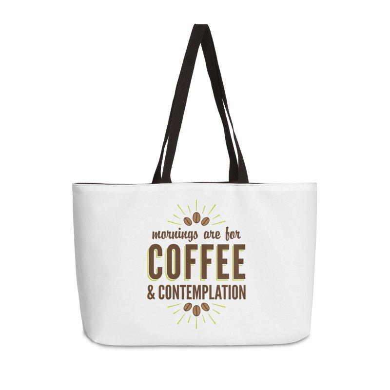 Coffee & Contemplation Accessories Weekender Bag Bag by Marci Brinker's Artist Shop