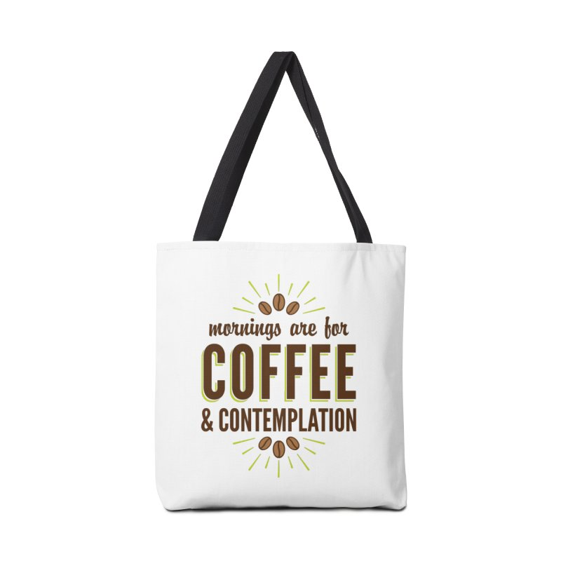 Coffee & Contemplation Accessories Bag by Marci Brinker's Artist Shop
