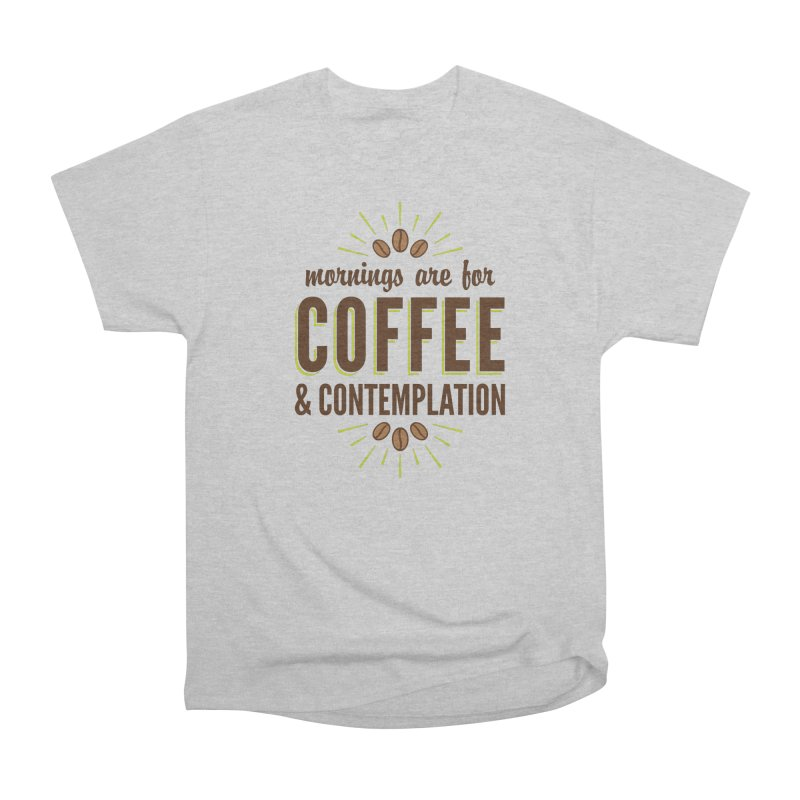 Coffee & Contemplation Men's Heavyweight T-Shirt by Marci Brinker's Artist Shop