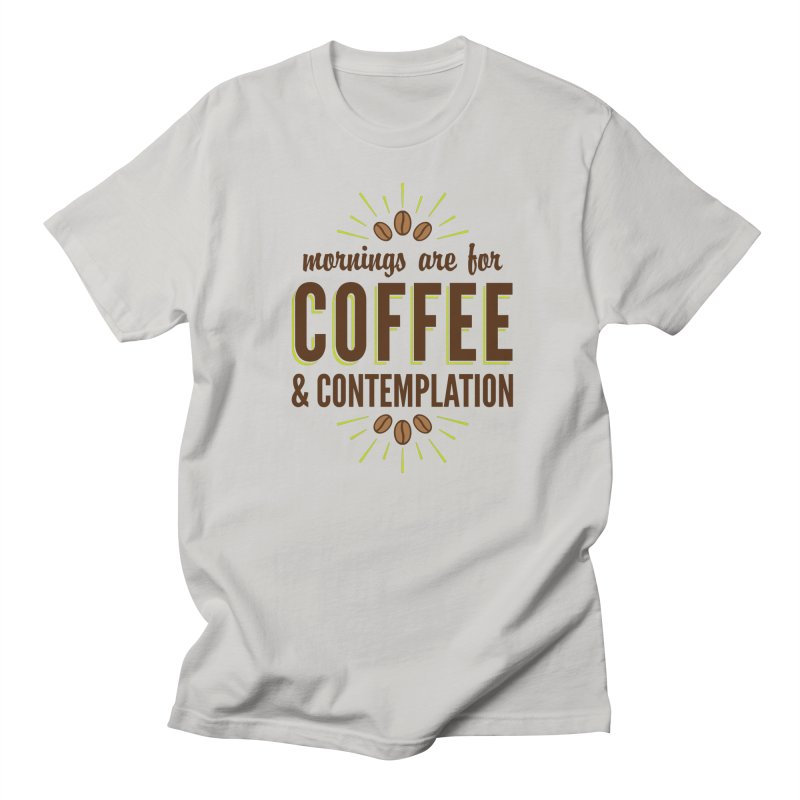 Coffee & Contemplation Men's Regular T-Shirt by Marci Brinker's Artist Shop