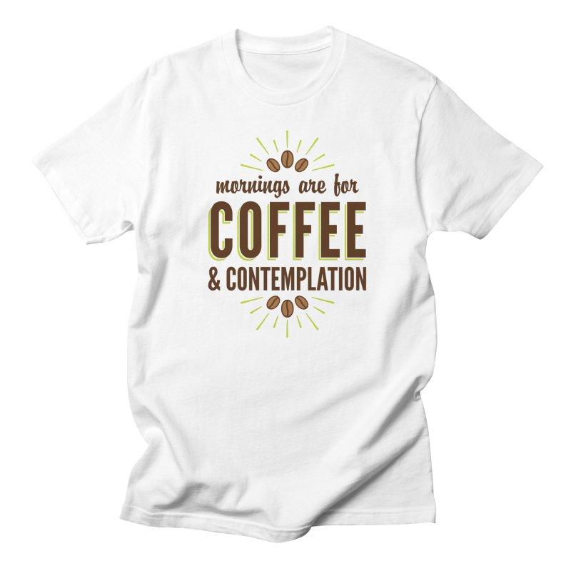 Coffee & Contemplation Men's Regular T-Shirt by Marci Brinker's Artist Shop