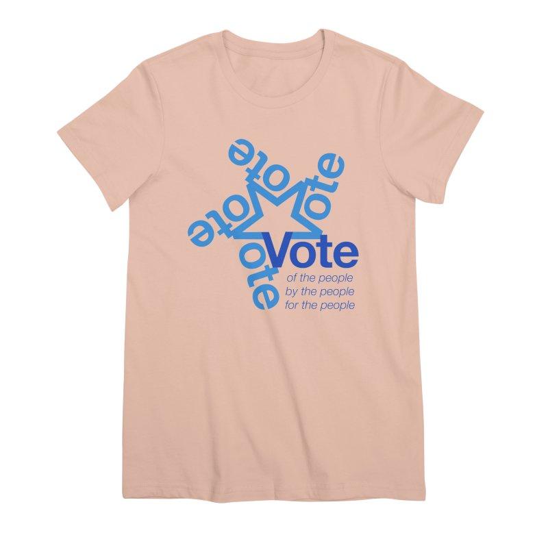Vote star Women's Premium T-Shirt by Marci Brinker's Artist Shop