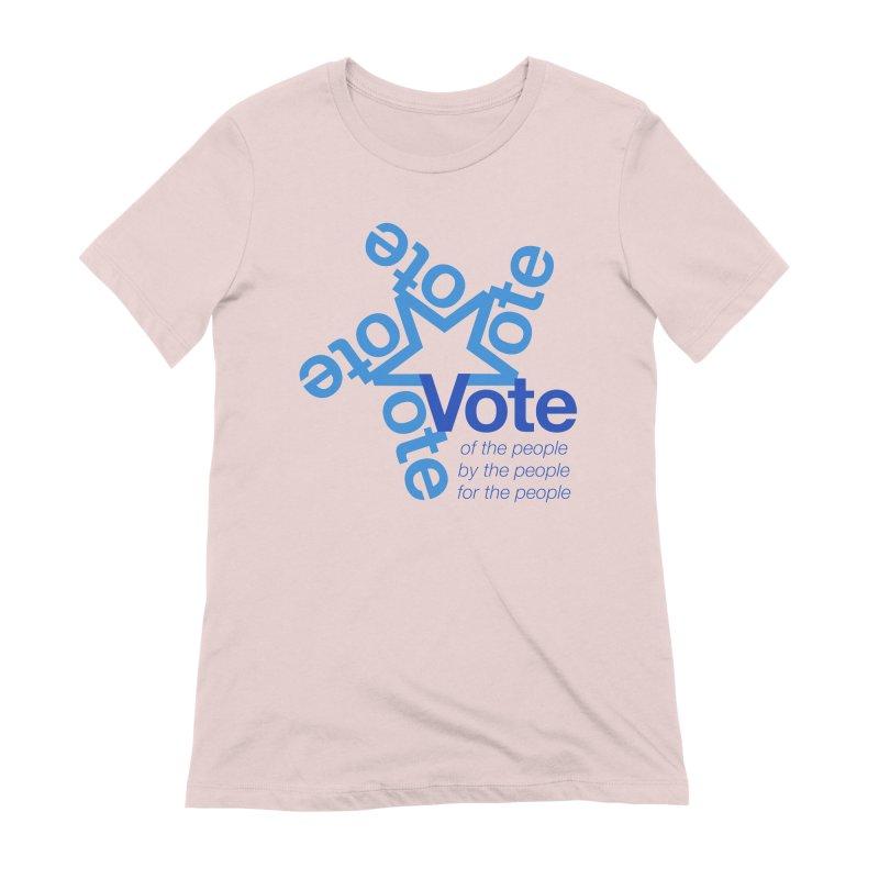 Vote star Women's Extra Soft T-Shirt by Marci Brinker's Artist Shop