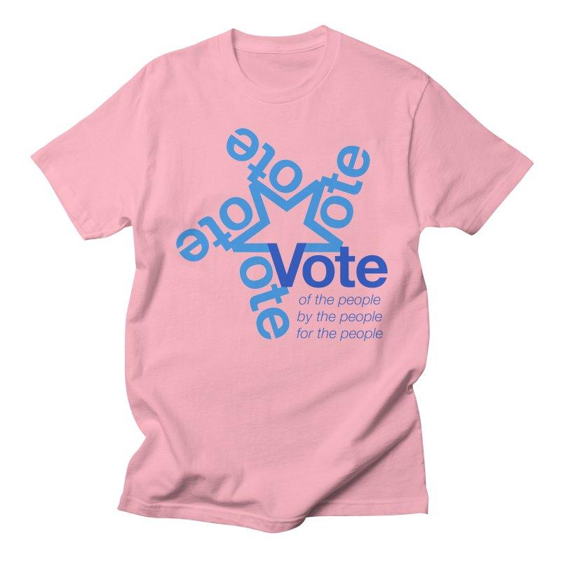Vote star Men's Regular T-Shirt by Marci Brinker's Artist Shop