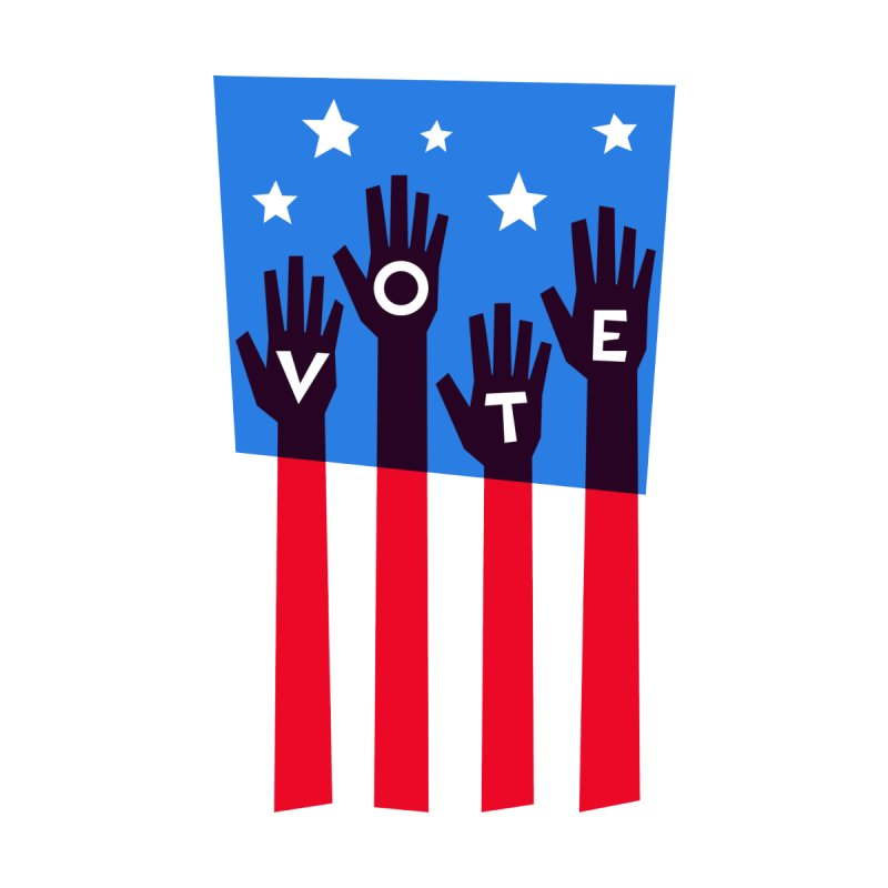 Vote Hands Flag by Marci Brinker's Artist Shop
