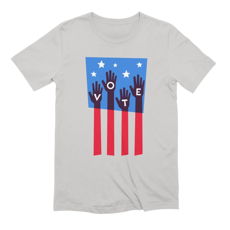 Vote Hands Flag Men's T-Shirt by Marci Brinker's Artist Shop