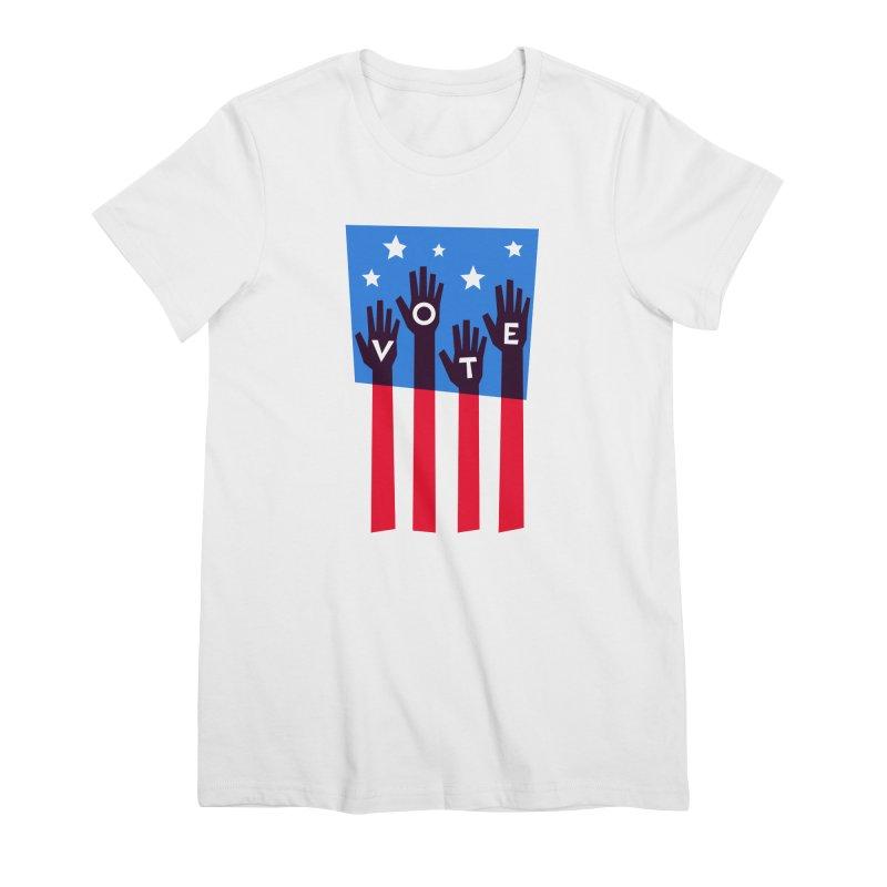 Vote Hands Flag Women's T-Shirt by Marci Brinker's Artist Shop