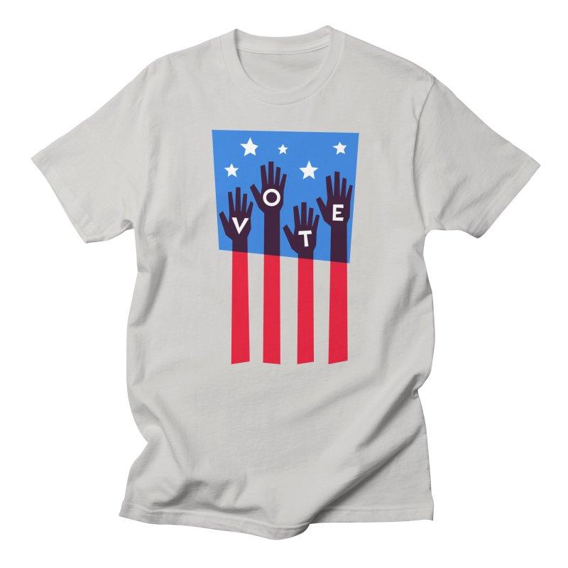 Vote Hands Flag Men's T-Shirt by Marci Brinker's Artist Shop