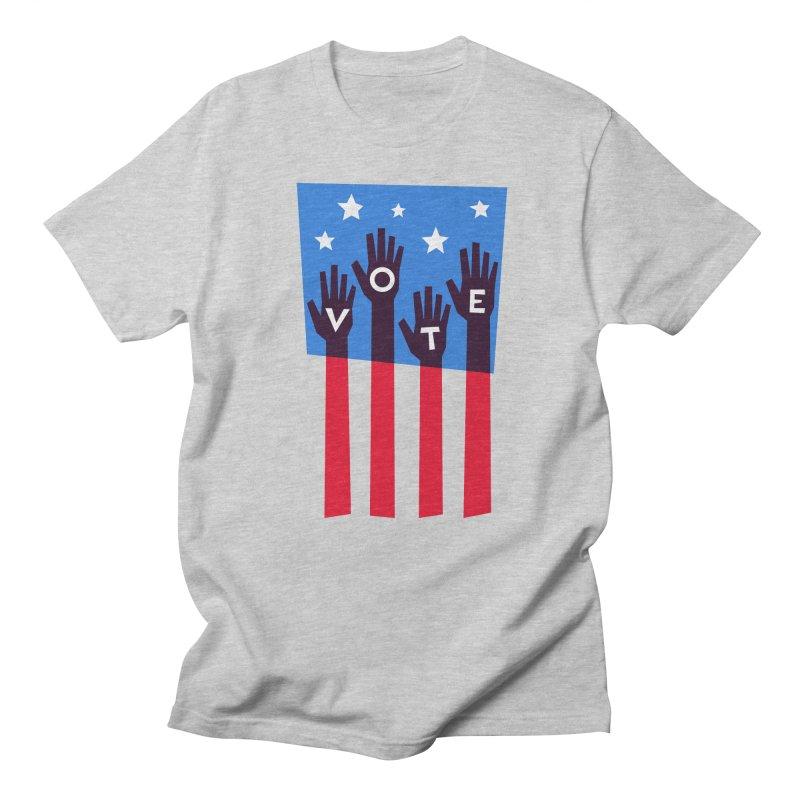 Vote Hands Flag Men's Regular T-Shirt by Marci Brinker's Artist Shop