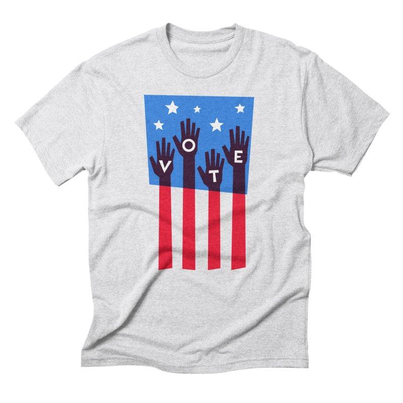 Vote Hands Flag Men's Triblend T-Shirt by Marci Brinker's Artist Shop