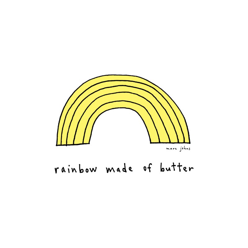 rainbow made of butter by Marc Johns Shop
