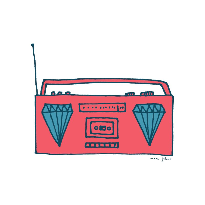 diamond boombox by Marc Johns Shop