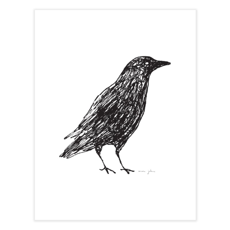 scribble crow Home Fine Art Print by Marc Johns Shop