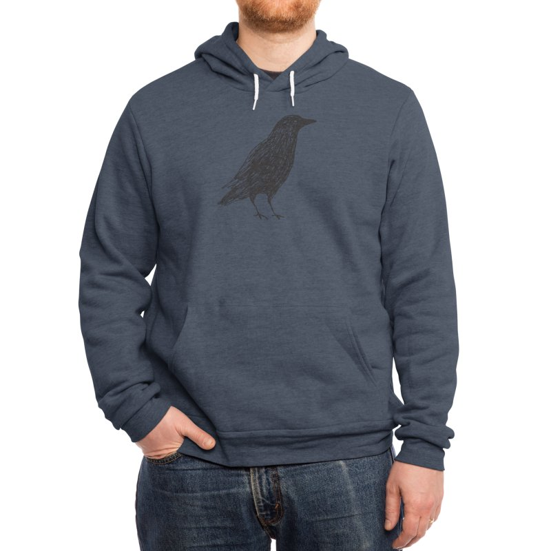 scribble crow Men's Pullover Hoody by Marc Johns Shop