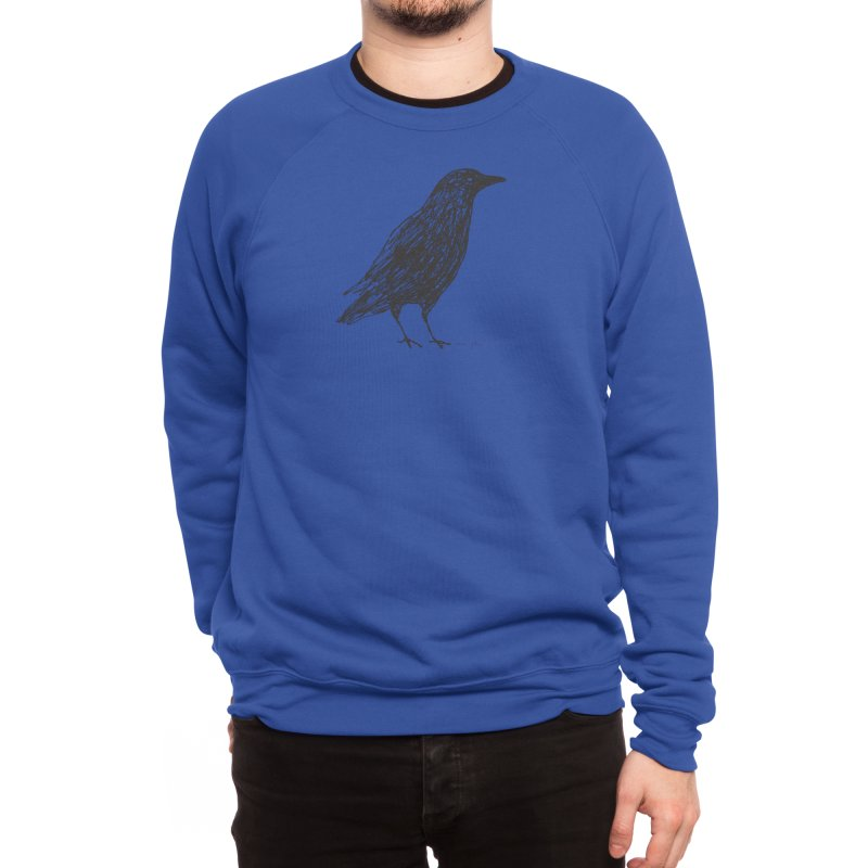 scribble crow Men's Sweatshirt by Marc Johns Shop