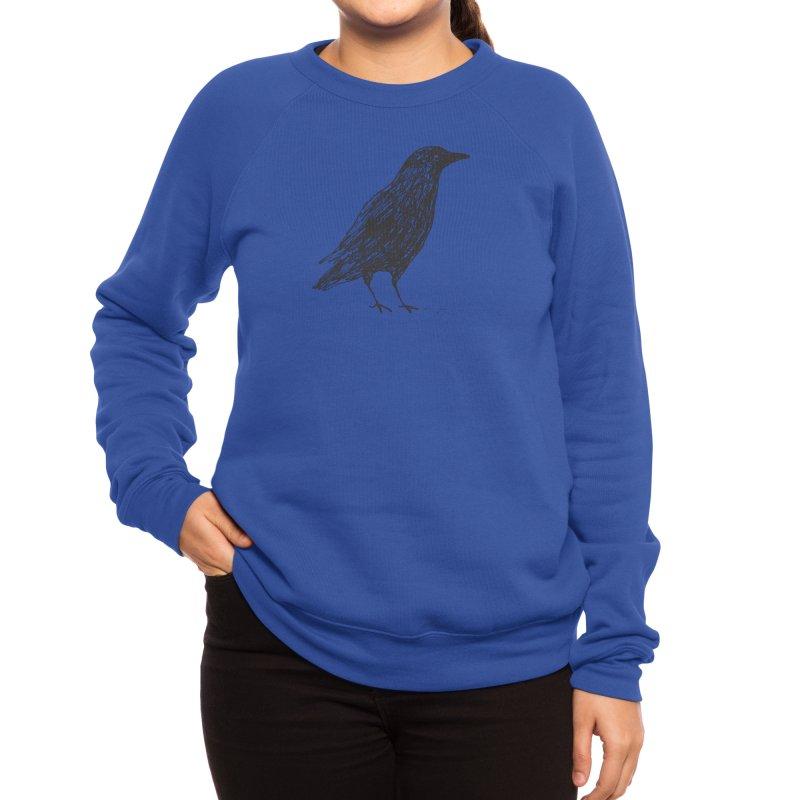 scribble crow Women's Sweatshirt by Marc Johns Shop