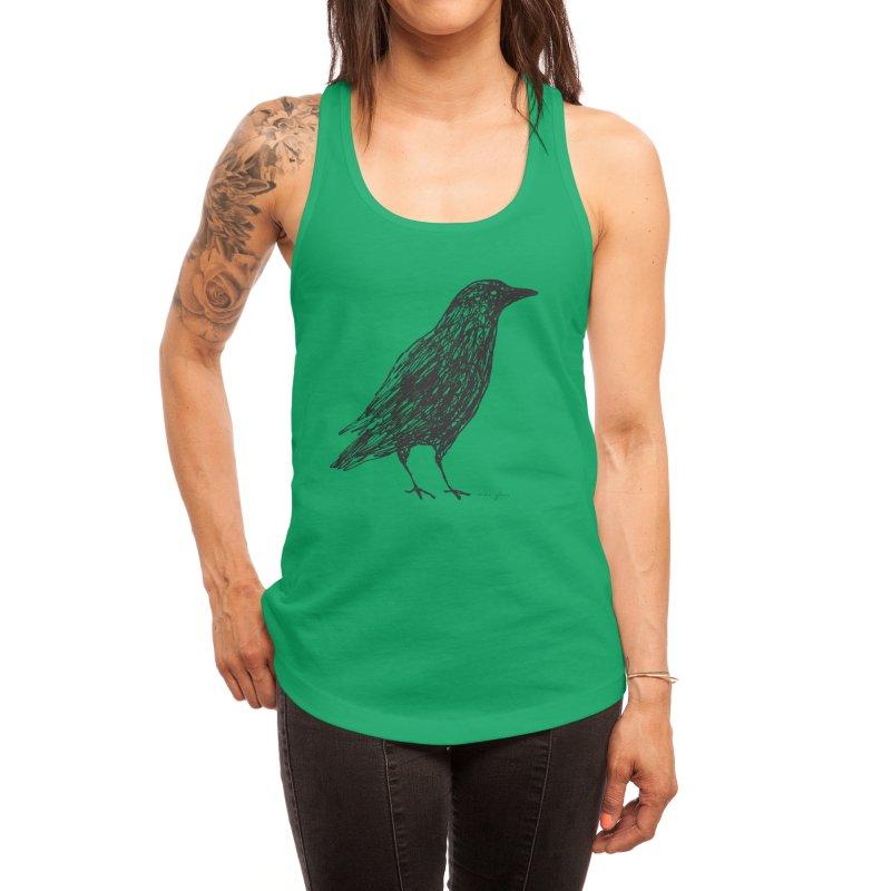 scribble crow Women's Tank by Marc Johns Shop