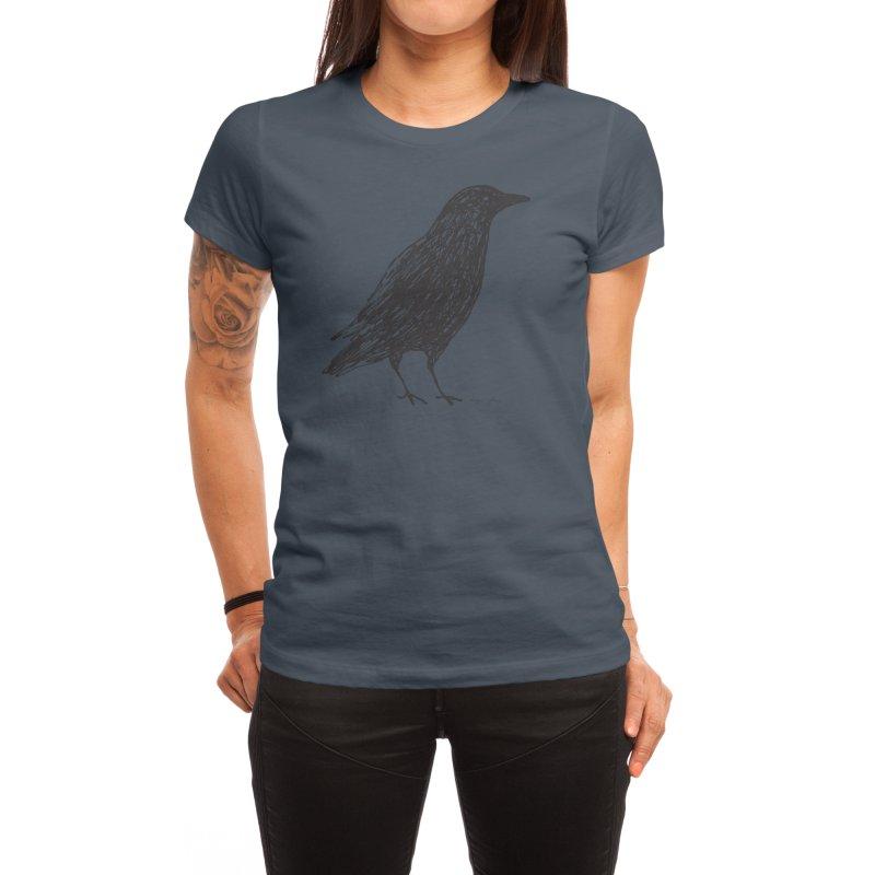 scribble crow Women's T-Shirt by Marc Johns Shop