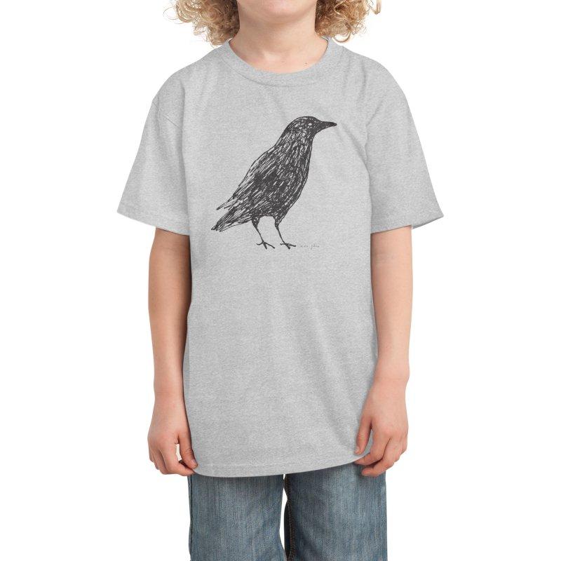 scribble crow Kids T-Shirt by Marc Johns Shop