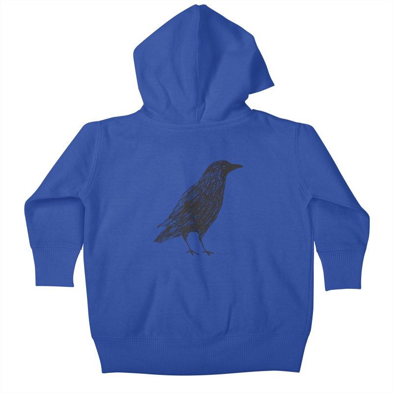 scribble crow Kids Baby Zip-Up Hoody by Marc Johns Shop