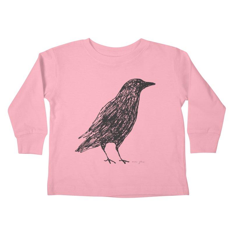 scribble crow Kids Toddler Longsleeve T-Shirt by Marc Johns Shop