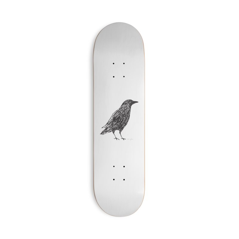scribble crow Accessories Skateboard by Marc Johns Shop