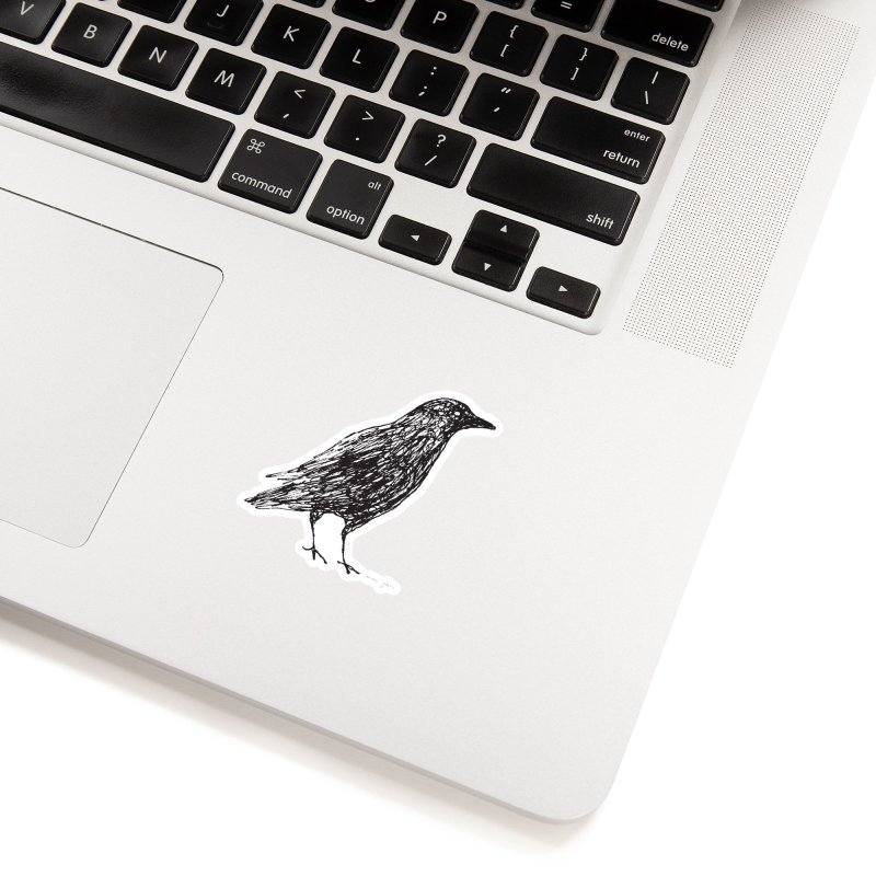 scribble crow Accessories Sticker by Marc Johns Shop