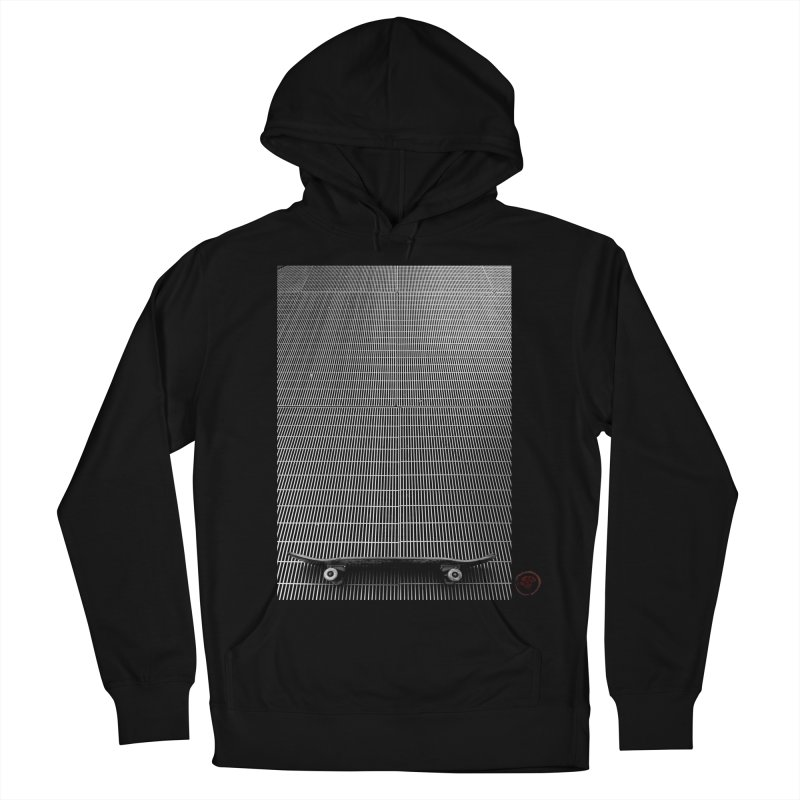 Shred Stick Men's French Terry Pullover Hoody by Marc Kuegle's Artist Shop