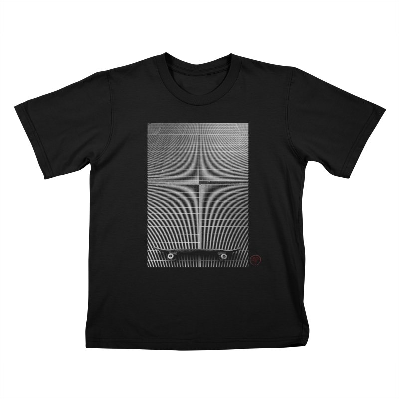 Shred Stick Kids T-Shirt by Marc Kuegle's Artist Shop