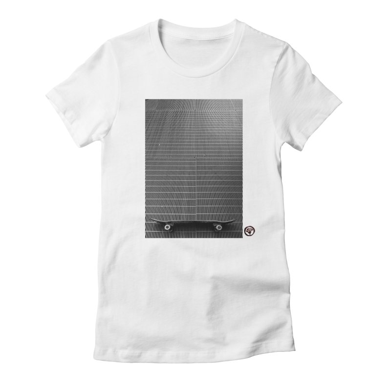 Shred Stick Women's Fitted T-Shirt by Marc Kuegle's Artist Shop