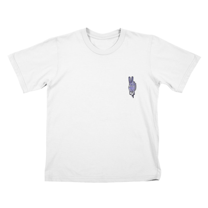 PEACE AND LOVE BROTHER Kids T-Shirt by Marc Kuegle's Artist Shop