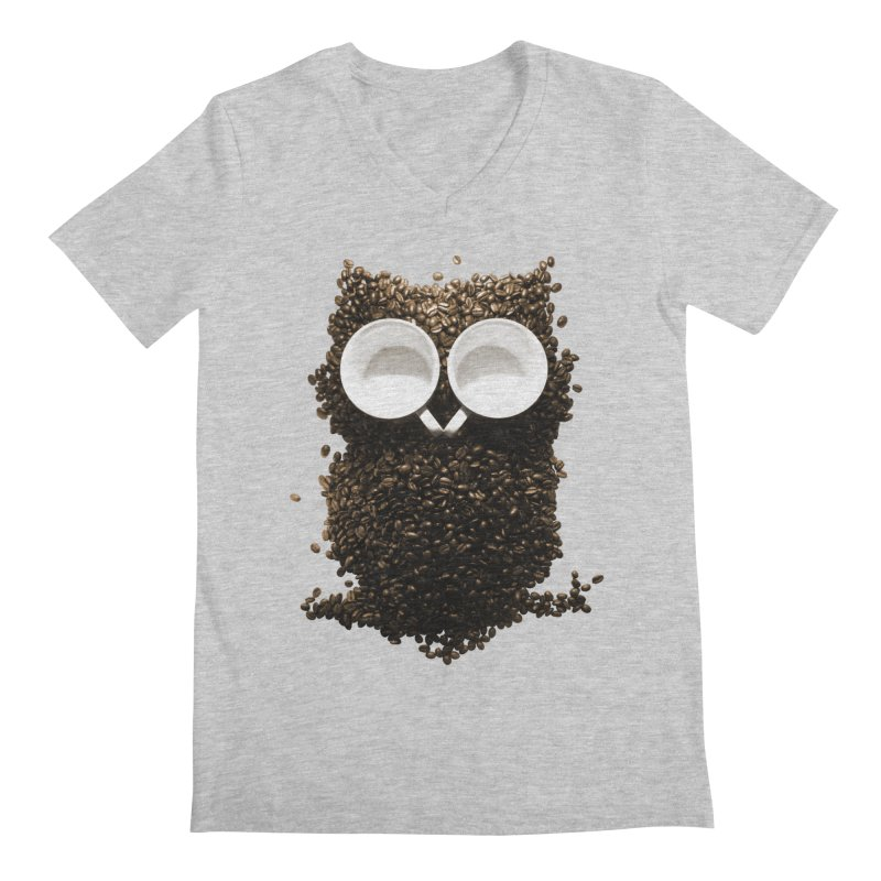 Hoot! Night Owl! Men's V-Neck by Apparel by Marco aka ivejustquitsmoking