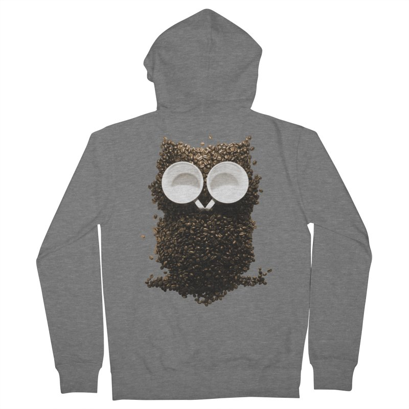 Hoot! Night Owl! Men's Zip-Up Hoody by Apparel by Marco aka ivejustquitsmoking