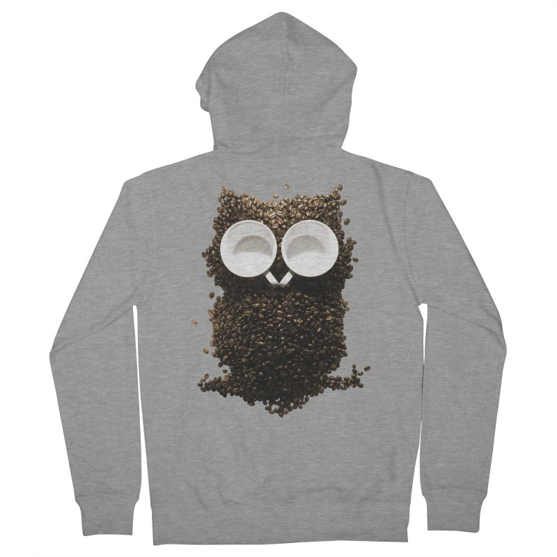 Hoot! Night Owl! Men's French Terry Zip-Up Hoody by Apparel by Marco aka ivejustquitsmoking