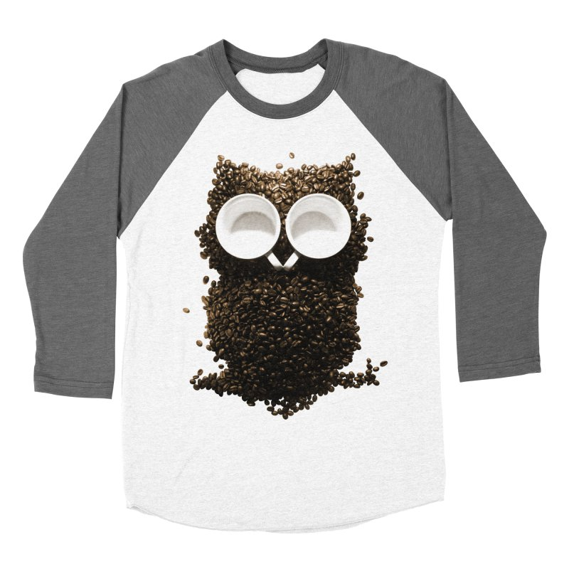 Hoot! Night Owl! Men's Baseball Triblend T-Shirt by Apparel by Marco aka ivejustquitsmoking