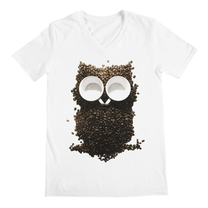 Hoot! Night Owl! Men's Regular V-Neck by Apparel by Marco aka ivejustquitsmoking