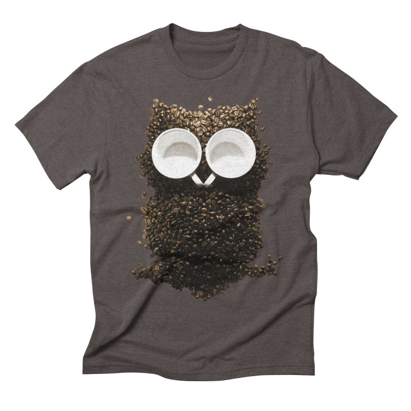 Hoot! Night Owl! Men's Triblend T-shirt by Apparel by Marco aka ivejustquitsmoking
