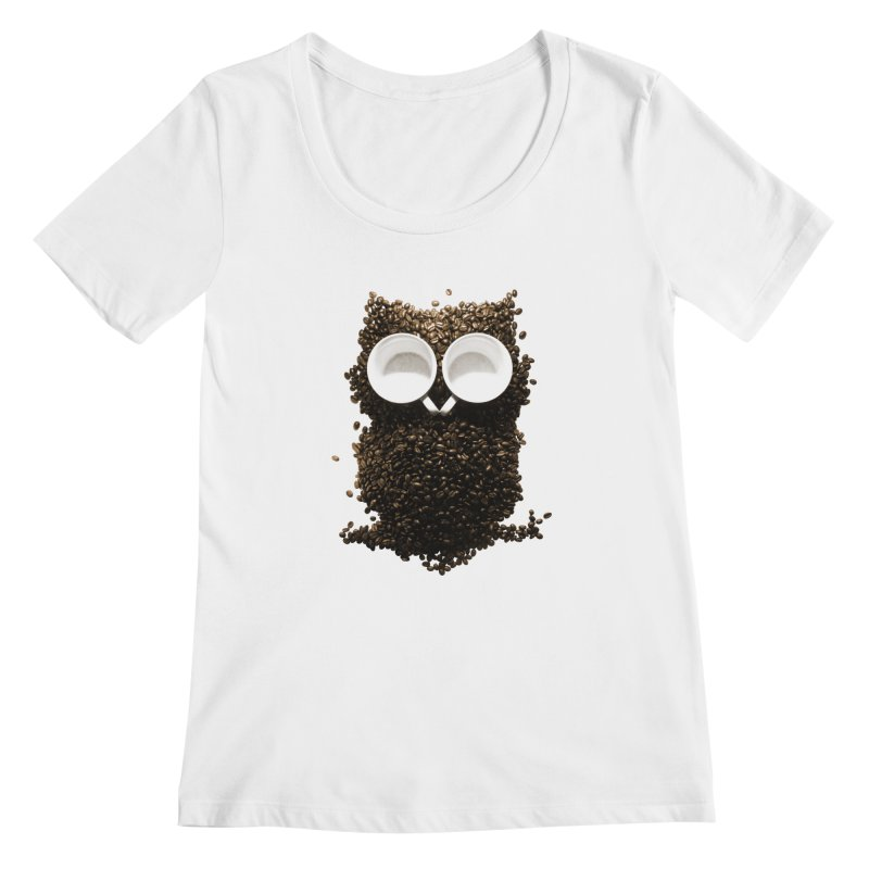Hoot! Night Owl! Women's Scoopneck by Apparel by Marco aka ivejustquitsmoking