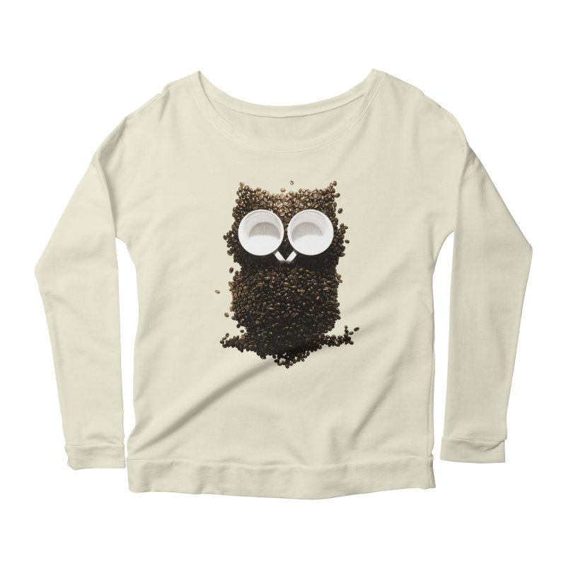 Hoot! Night Owl! Women's Longsleeve Scoopneck  by Apparel by Marco aka ivejustquitsmoking